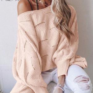 Oversized Sweater Blush Pink NWT